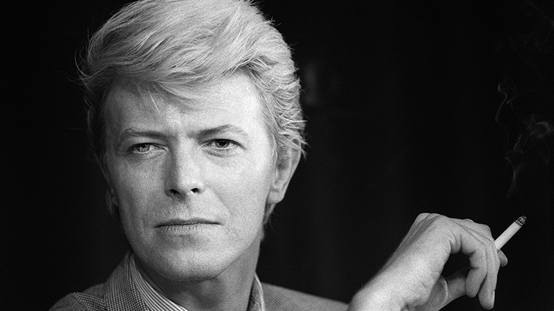 A portrait taken on May 13, 1983 shows David Bowie during a press conference at the 36th Cannes Film Festival.