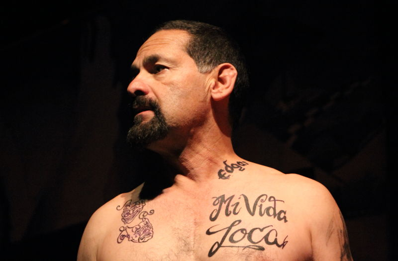 Ric Salinas of Culture Clash performs the title role in PLACAS: The Most Dangerous Tattoo by Paul Flores.