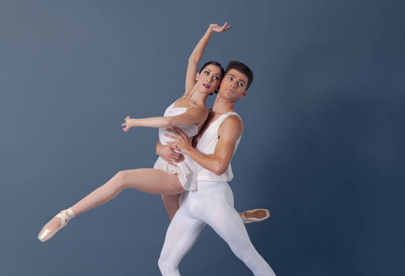 Rosselyn Ramirez and Raymond Tilton in Photo from George Balanchine's Apollo.