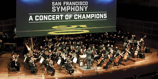 The San Francisco Symphony accompanies an evening of NFL Films