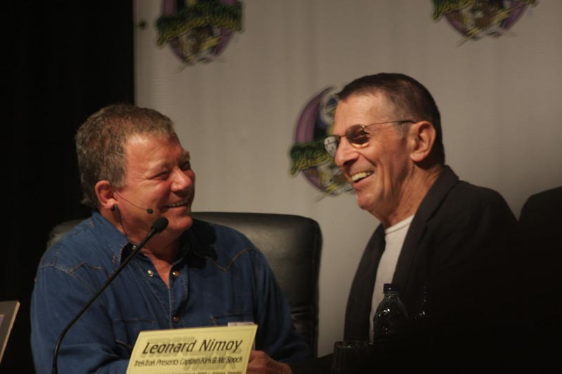 William Shatner and Leonard Nimoy at Dragon Con, 2009.