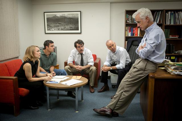 Rachel McAdams, Mark Ruffalo, Brian d'Arcy, Michael Keaton and John Slattery in best picture nominated 'Spotlight.'