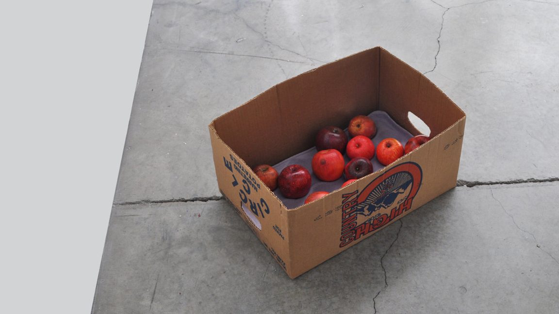Chris Thorson, 'Boxed In,' 2012; Mixed media on hydrocal, found cardboard box.