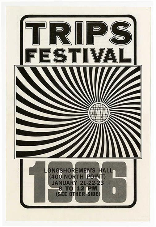 The original flyer for the Trips Festival, 1966.