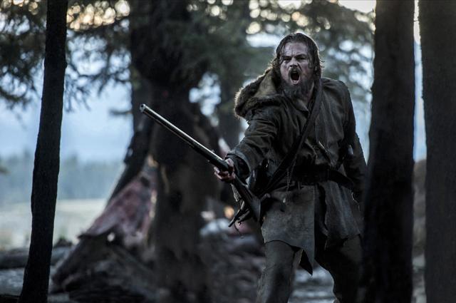 Best actor nominee Leonardo DiCaprio in best picture nominated 'The Revenant.'