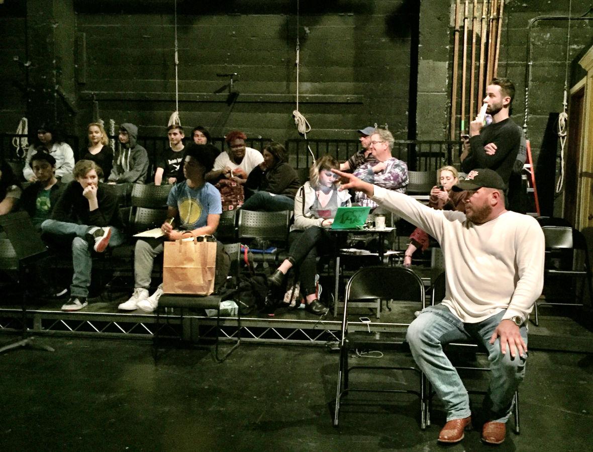 Oakland School for the Arts theater teacher Michael Berry