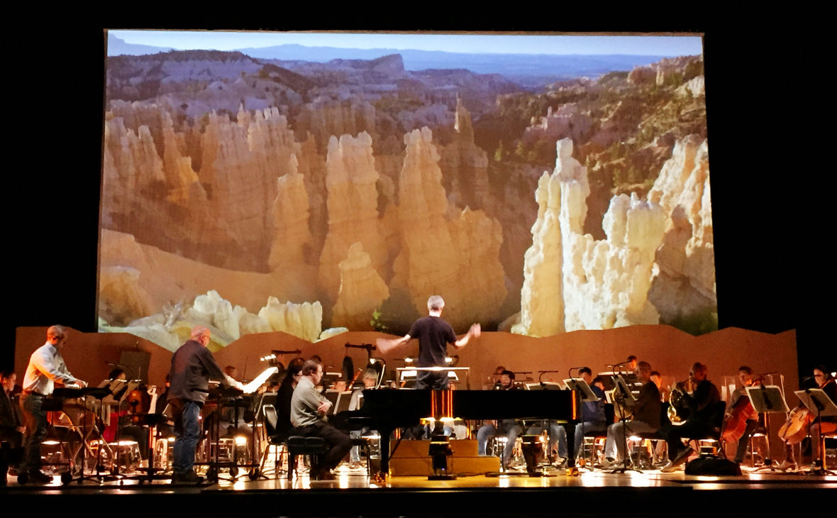 David Robertson leading the St. Louis Symphony in a rehearsal of Messiaen's 'Des Canyons aux étoiles' at Cal Performances
