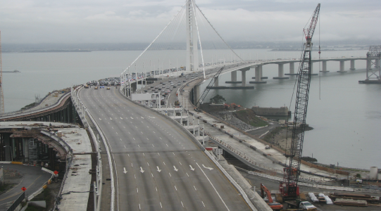 View from the construction cameras on the Bay Bride during the Black.Seed protest.