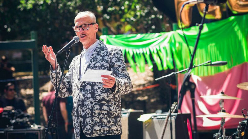 John Waters at Burger Boogaloo 2015.