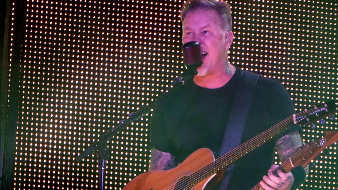 James Hetfield of Metallica performs at AT&T Park on Feb. 6, 2016.