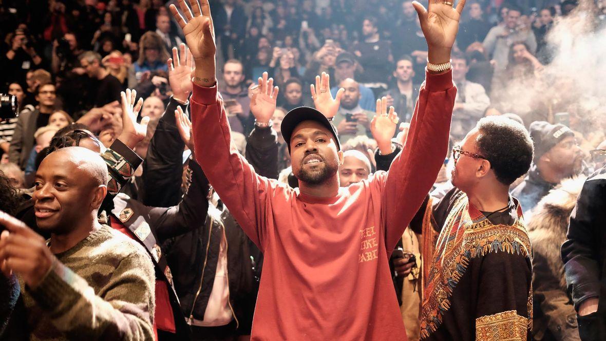 Kanye West at 'Yeezy Season 3' at Madison Square Garden, Feb. 11, 2016.  Photo: Dimitrios Kambouris/Getty Images