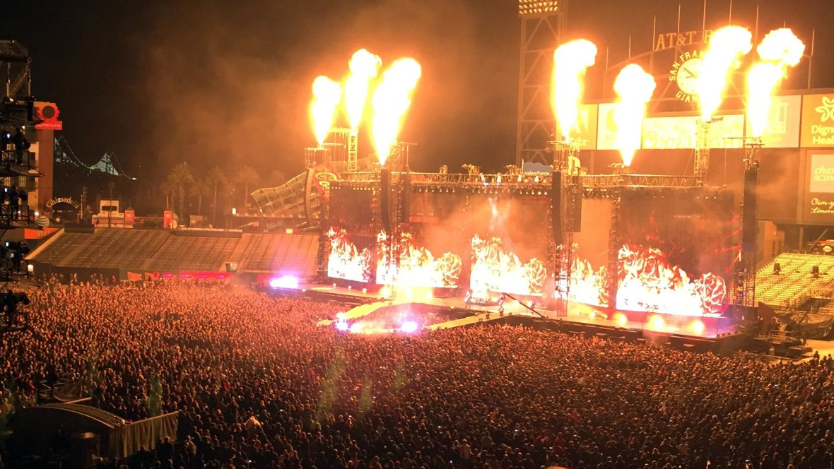 Metallica performing at AT&T Park on Feb. 6, 2016. Gabe Meline