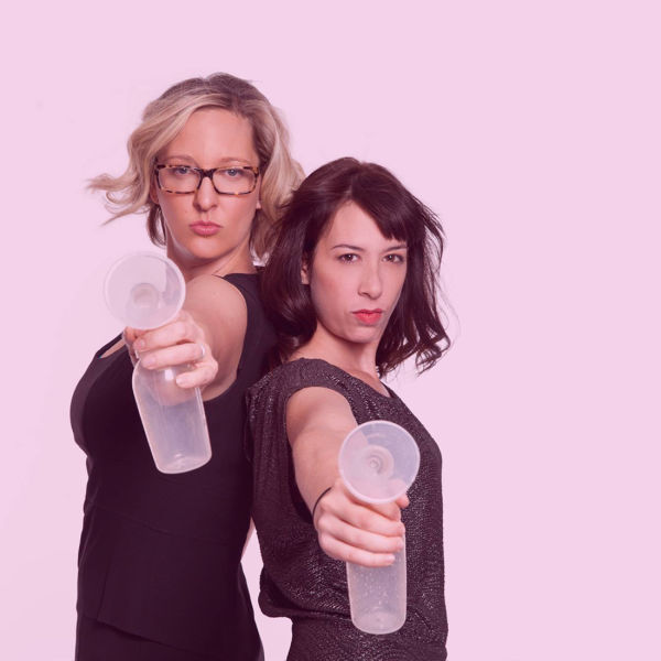 Theresa Thorn and Biz Ellis of One Bad Mother podcast; Courtesy Maximum Fun