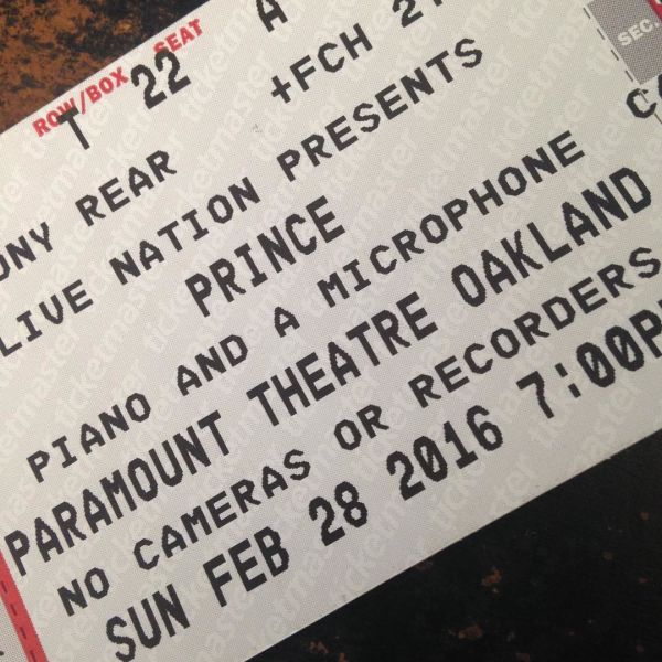 Ticket prices for Prince's Oakland shows ranged from $97 to $273, before fees.