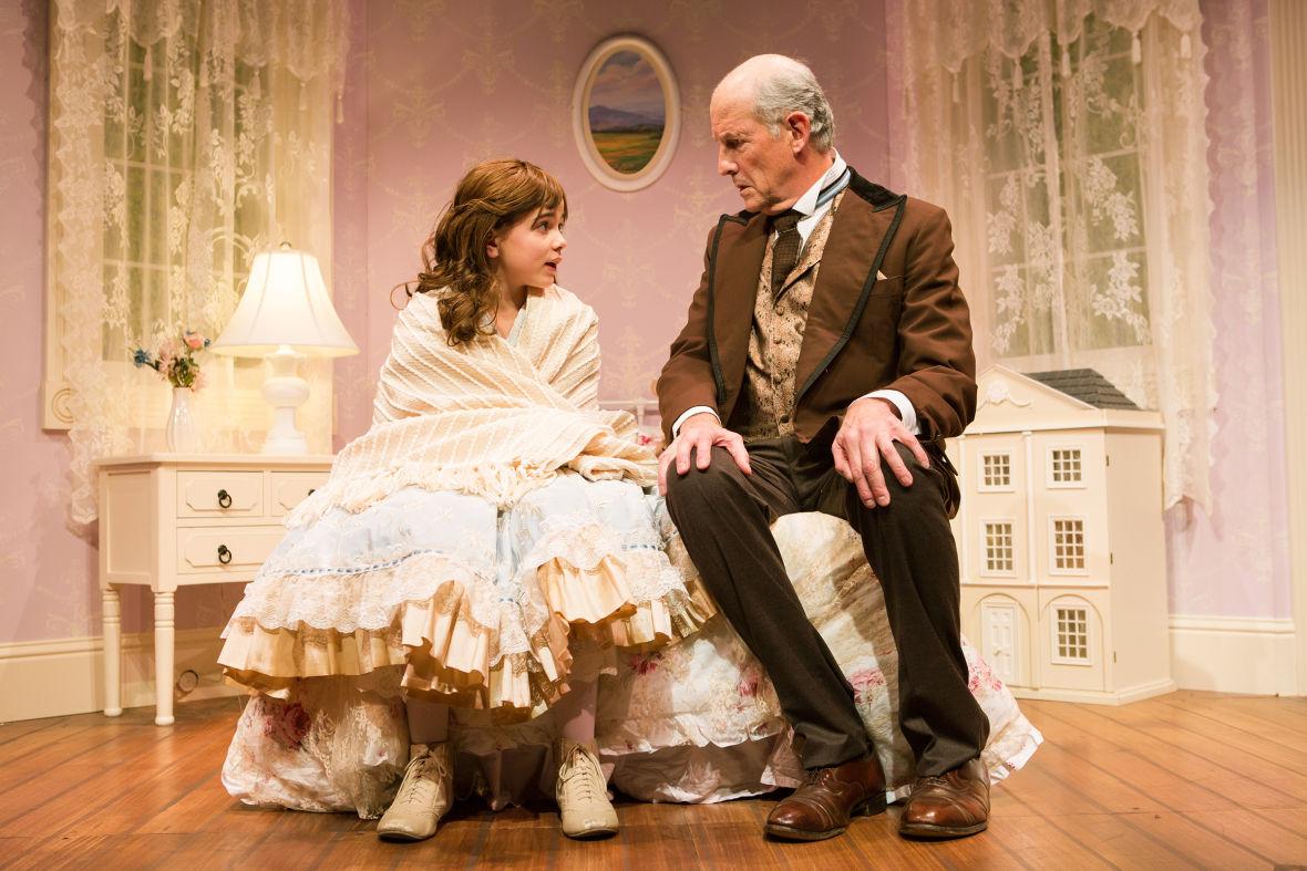 Iris (Carmen Steele) and Papa (Warren David Keith*) in Jennifer Haley's 'The Nether'
