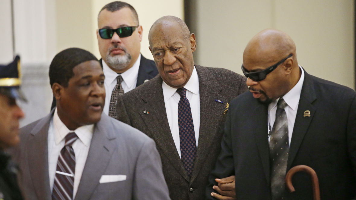 Bill Cosby arrives for a court appearance on Wednesday in Norristown, Pa. The judge has ruled that the case against him will proceed, despite a claim that he was promised immunity a decade ago.