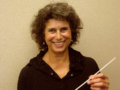 Laurie Cohen, director of the Mill Valley Philharmonic.