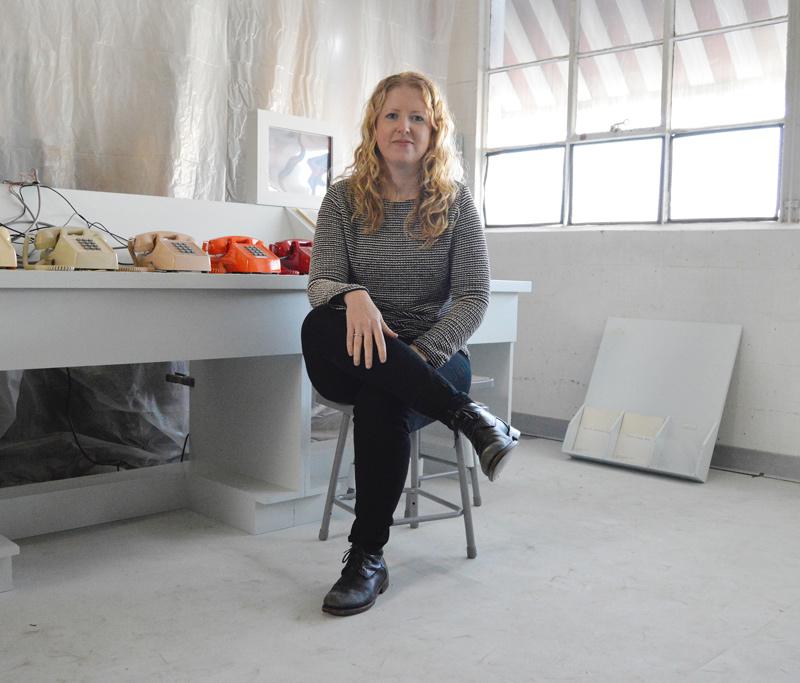 Carrie Hott in her Headlands studio.