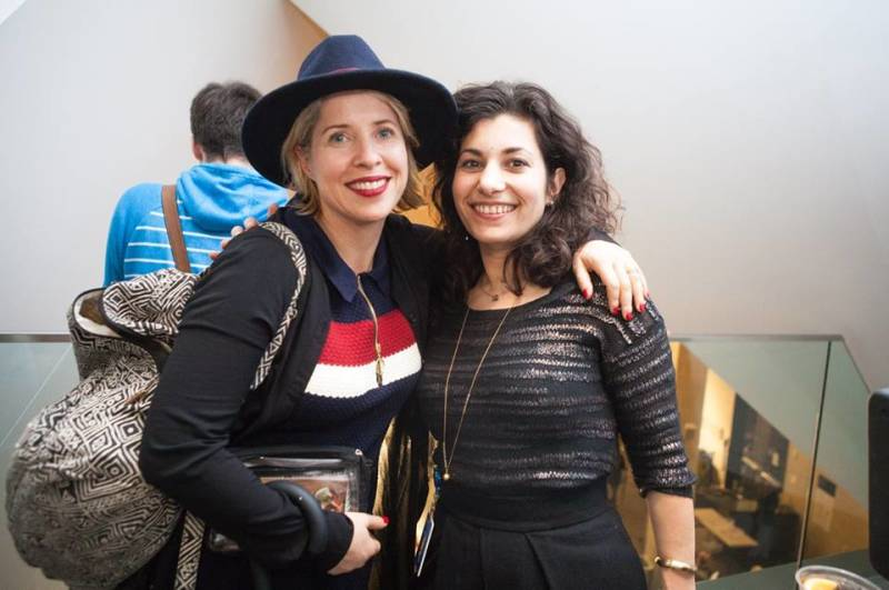 Gravity Goldberg with noted filmmaker Tiffany Shlain at one of the museum's frequent after-hours events.