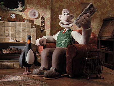 A scene from 'The Wrong Trousers' from Aardman Animations, recipient of the Persistence of Vision Award.