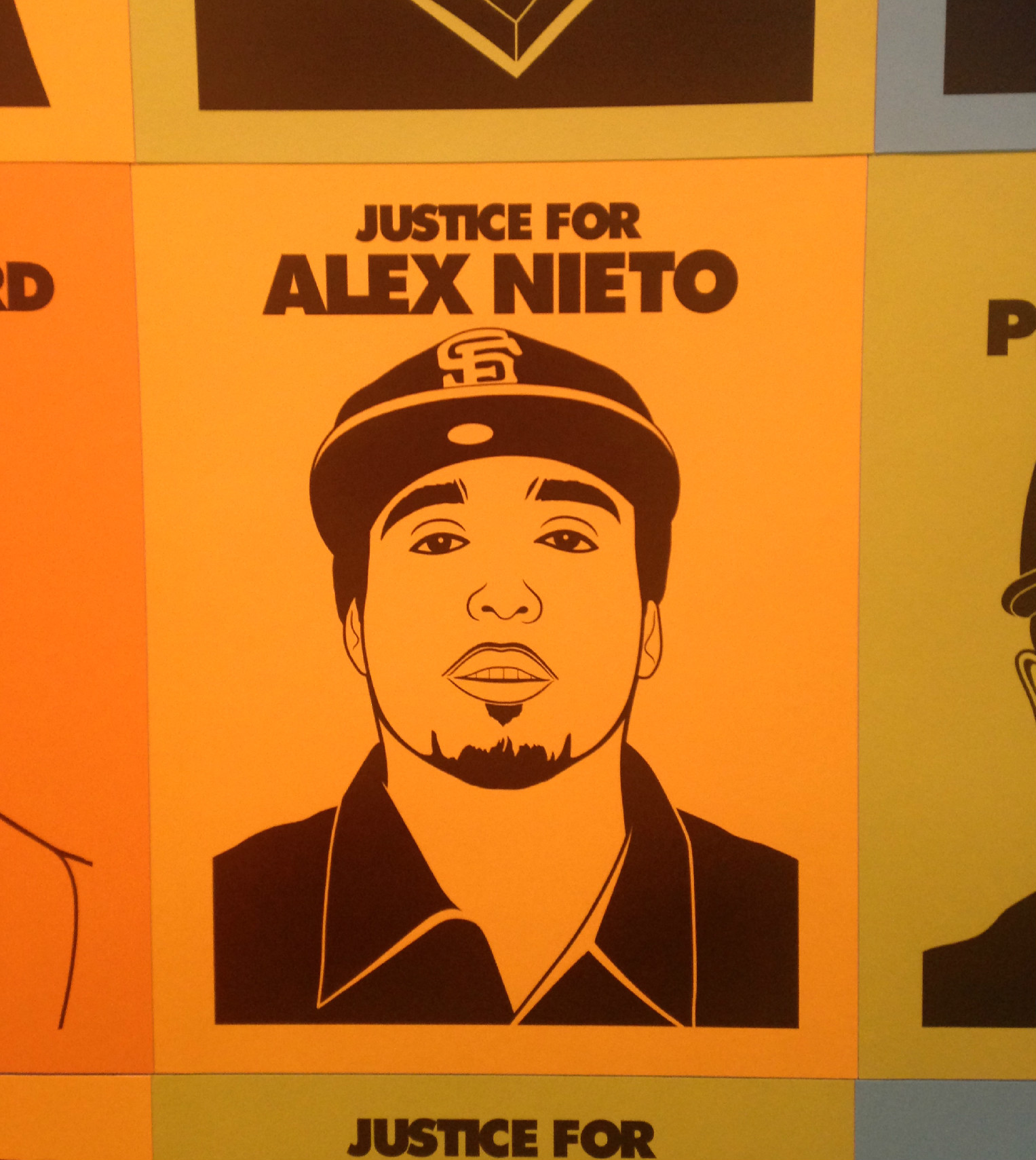 Oree Originol, Detail from 'Justice for Alex Nieto'