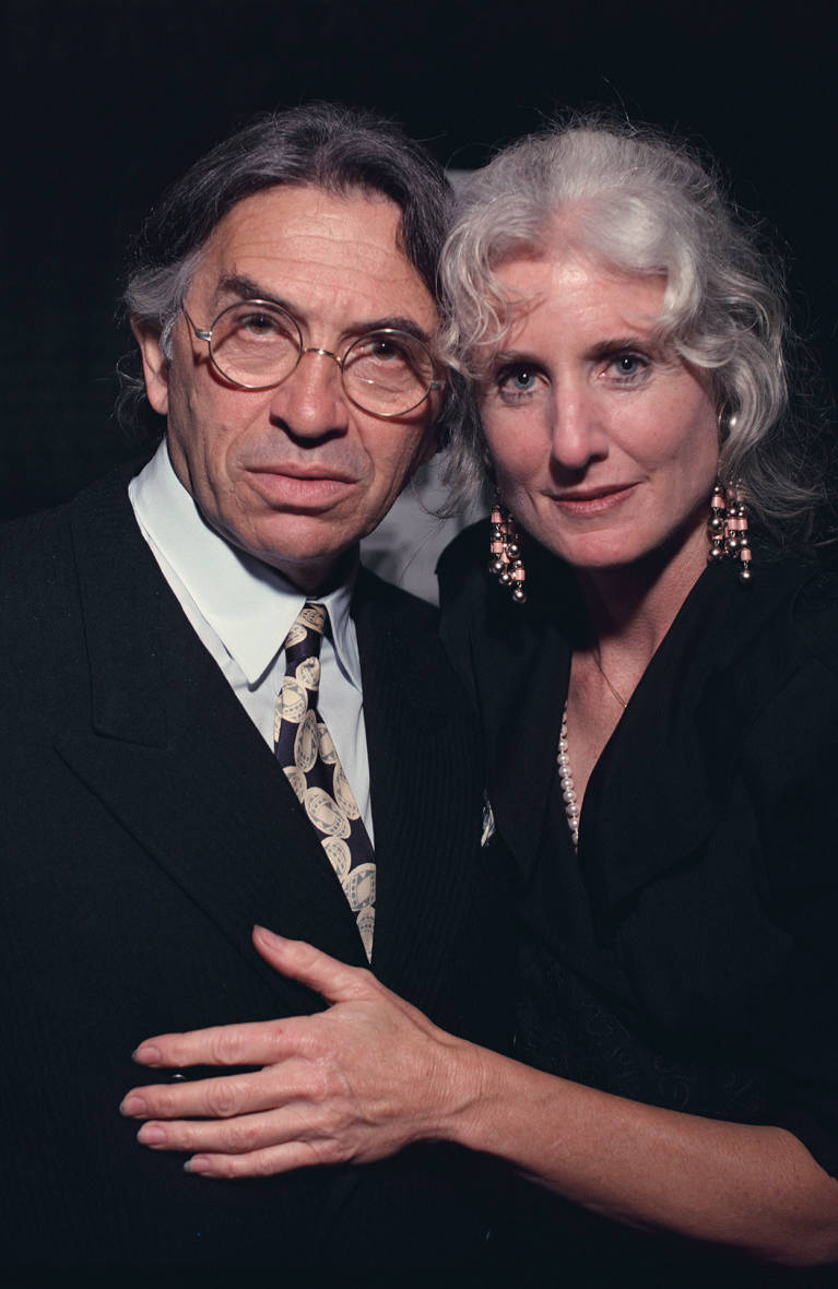 Bill Graham with Melissa Gold, who along with pilot Steve Kahn died in a 1991 helicopter crash, pictured at the Orpheum Theatre in San Francisco, October 1991.