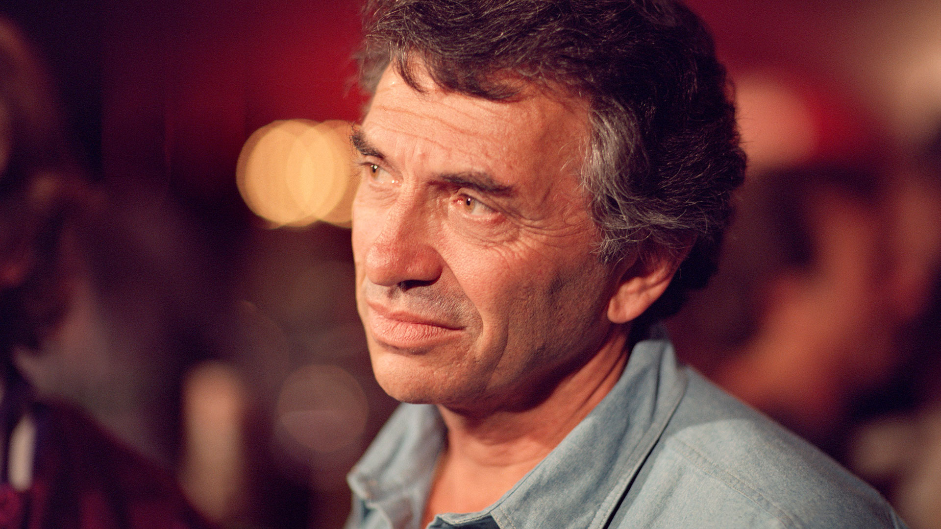 Bill Graham between takes during the filming of 'A '60s Reunion with Bill Graham: A Night at the Fillmore.' Fillmore Auditorium, San Francisco, 1986. Part of 'Bill Graham and the Rock & Roll Revolution,' on view March 17–July 5, 2016 at the Contemporary Jewish Museum in San Francisco.