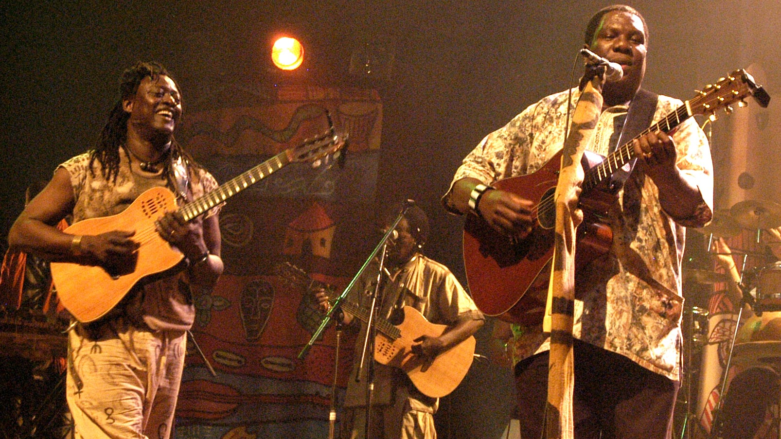 Habib Koite (left) and Vusi Mahlasela perform three times in the Bay Area.