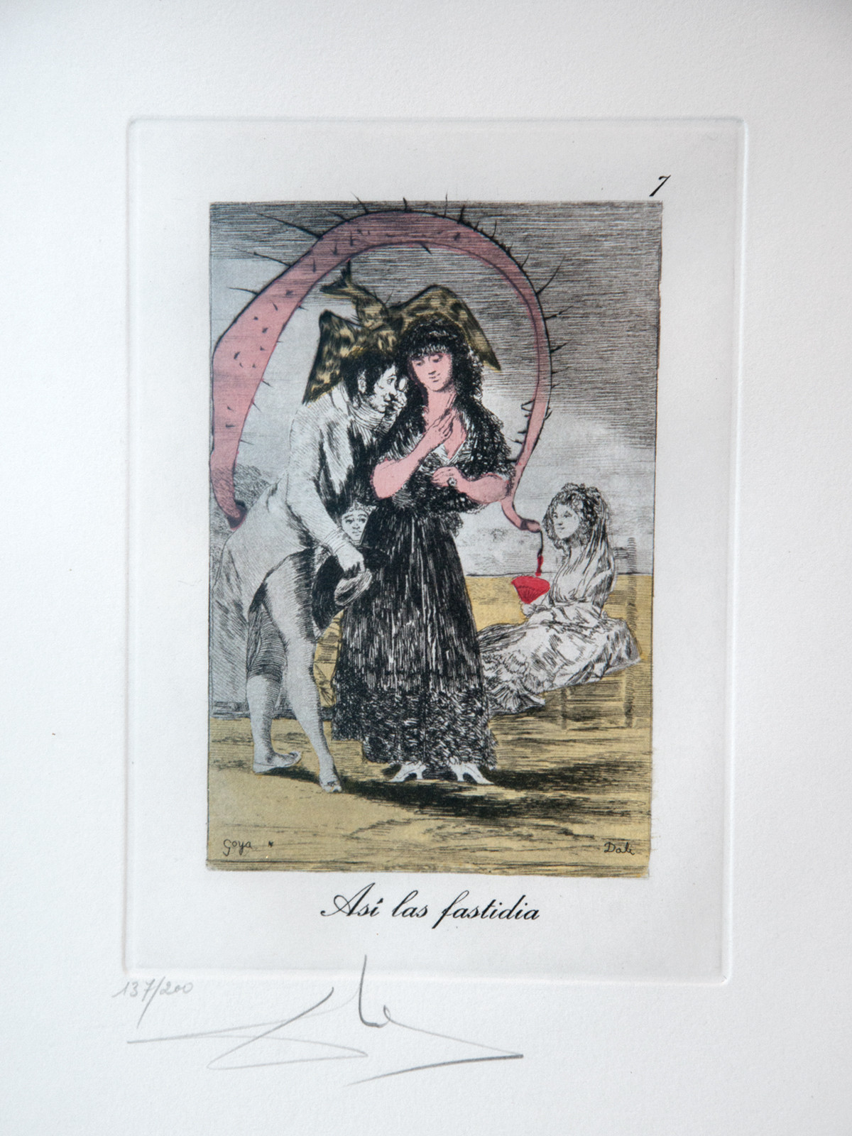 """Asi las fastidia,"" a reworking of Francisco Goya by Salvador Dalí."