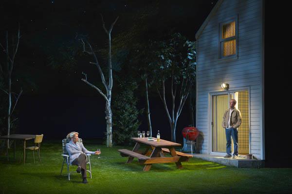 Jennifer Jones (Rebecca Watson) and husband Bob Jones (Rod Gnapp) in Will Eno's The Realistic Joneses at ACT
