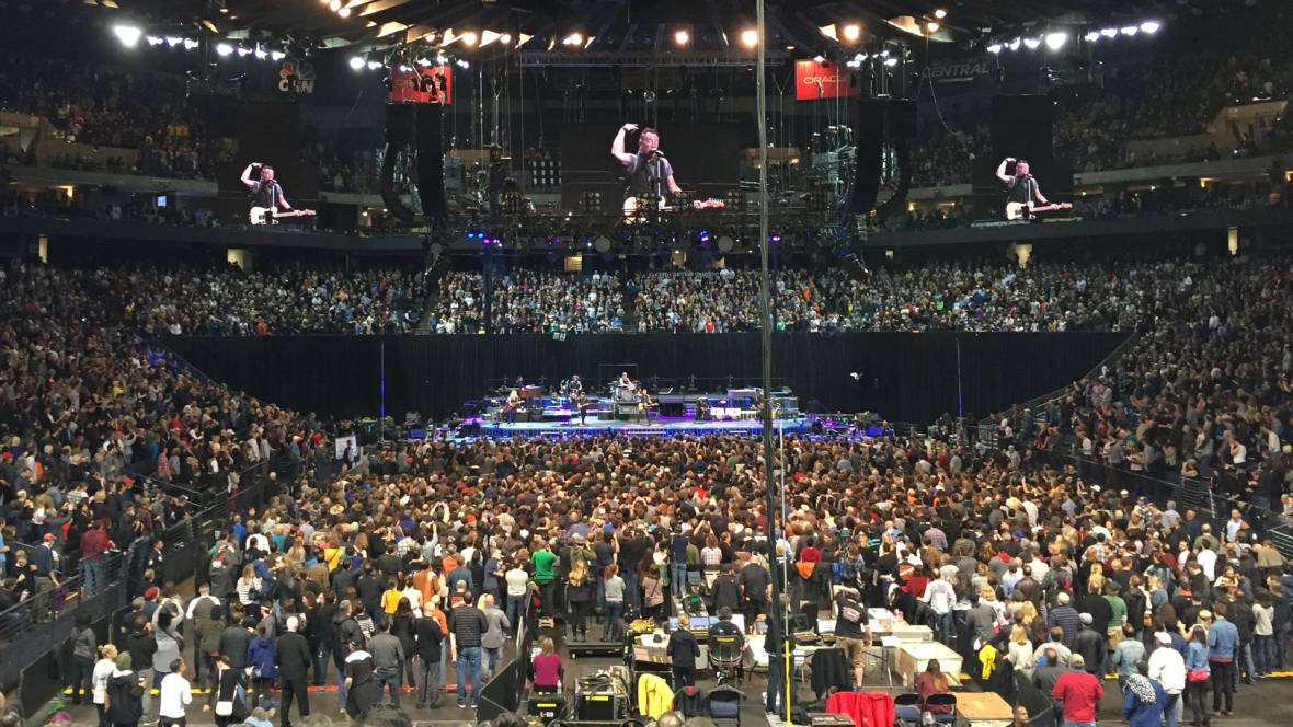 Bruce Springsteen's crowd at Oracle Arena, March 13, 2016. Gabe Meline