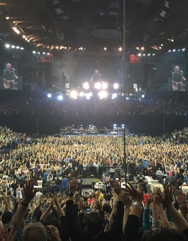 Fans at Bruce Springsteen's show at Oracle Arena, March 13, 2016.