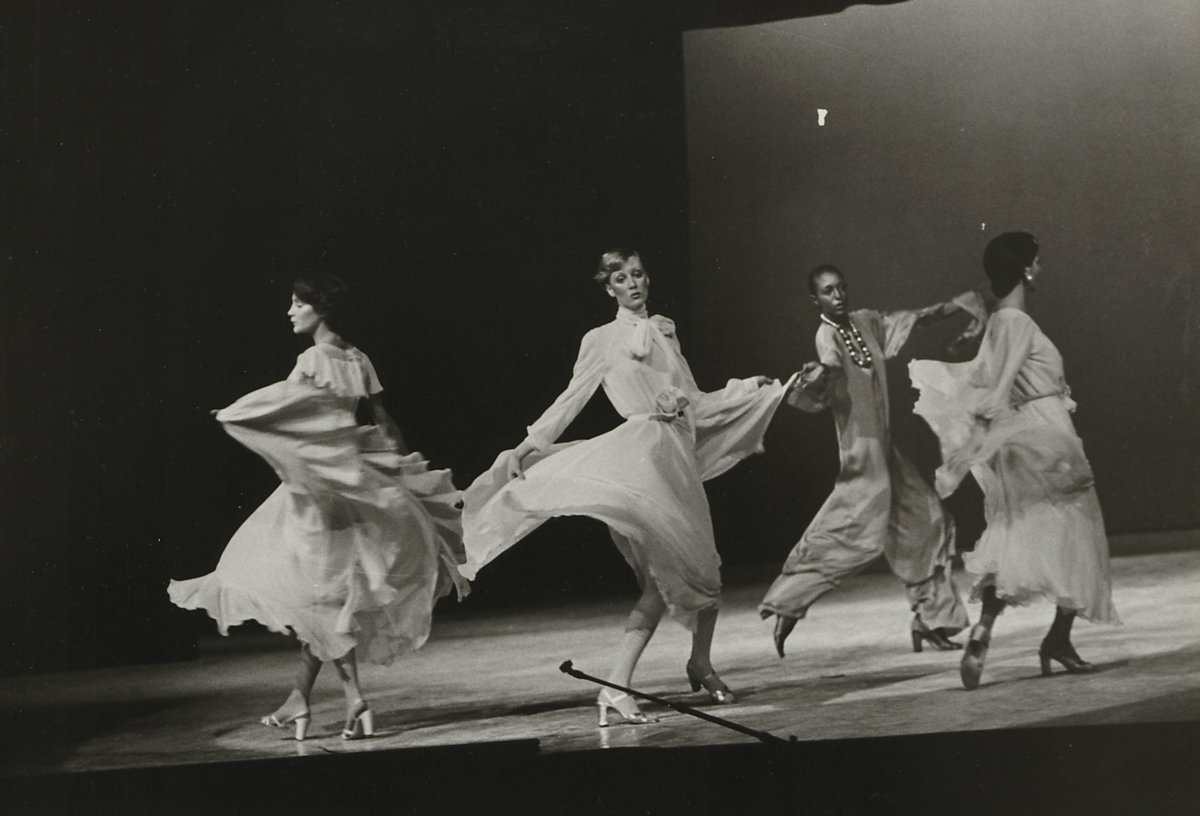 Oscar de la Renta fashion show at the Battle of Versailles, November 28, 1973.