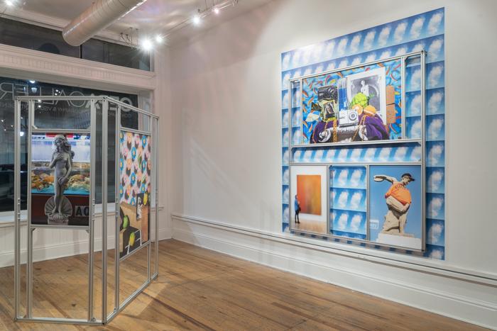 Nando Alvarez-Perez, Installation view of 'Totems for a Flattened Now,' CEPA Gallery, Buffalo, NY, 2016.
