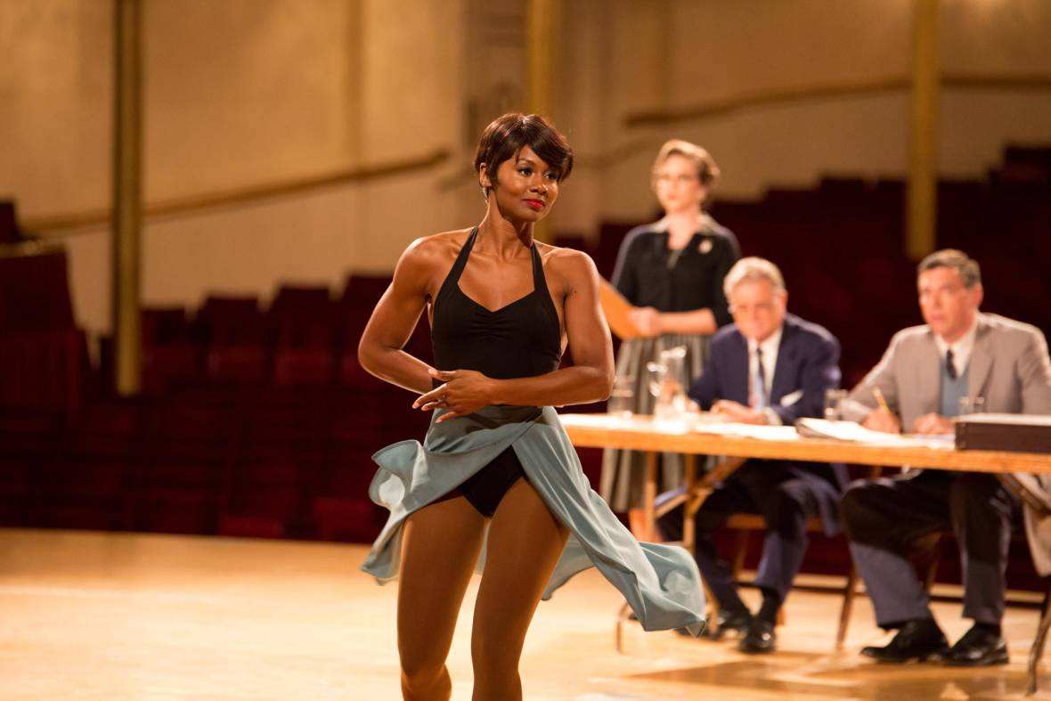 Emayatzy Corinealdi as Frances Taylor, Miles Davis' wife, who suffers his abusive side in 'Miles Ahead.'