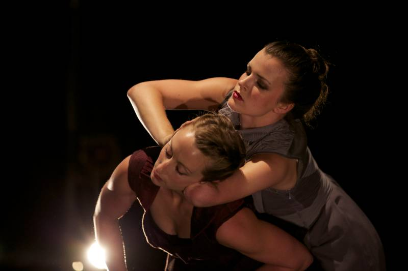 AXIS Dance Company dancers Julie Crothers and Sophie Stanley