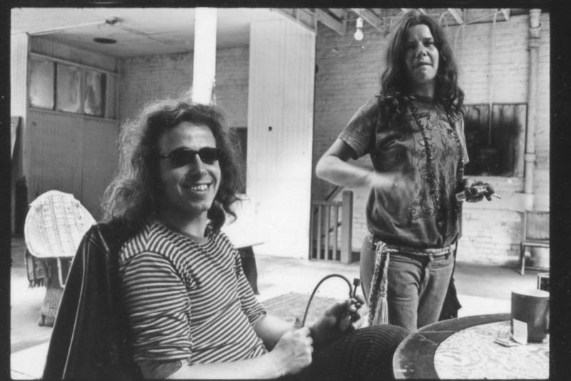 Big Brother and the Holding Company drummer Dave Getz and Janis Joplin, circa 1967