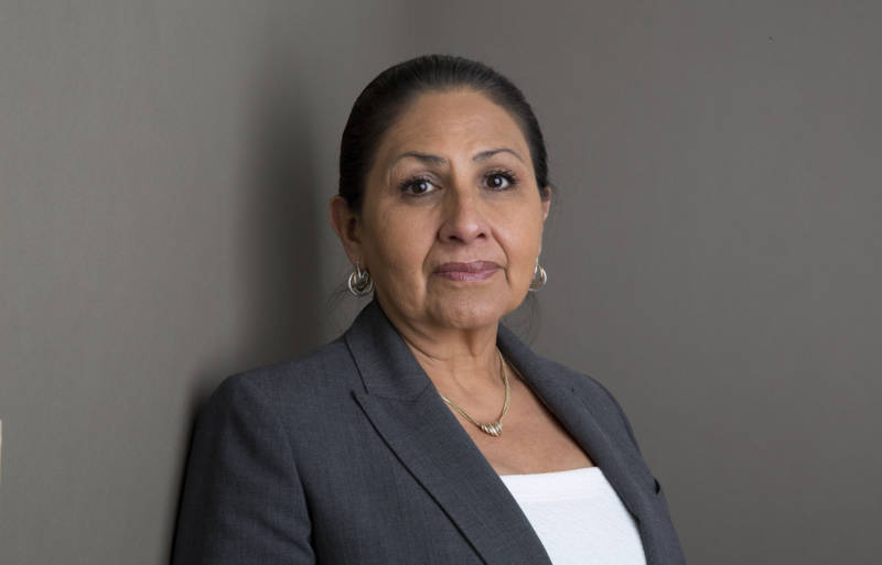 Delores Canales, formerly incarcerated in solitary confinement poses for a portrait in Fullerton, Orange County, California on 23rd March 2016
