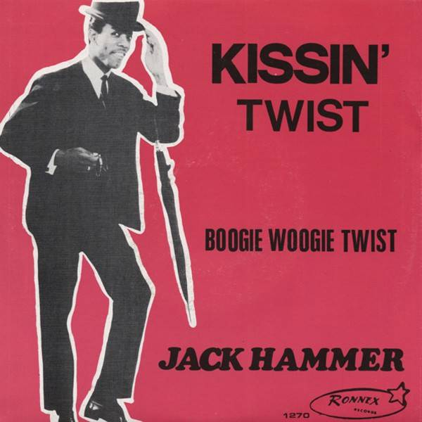 """Cover of Burroughs' single """"Kissin' Twist"""""""