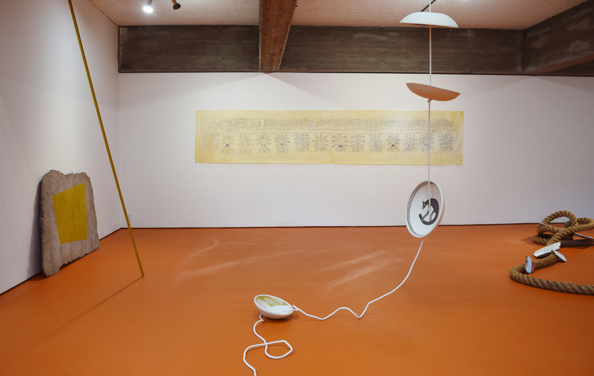 Installation view, Mariana Castillo Deball, 'Feathered Changes, Serpent Disappearances.'