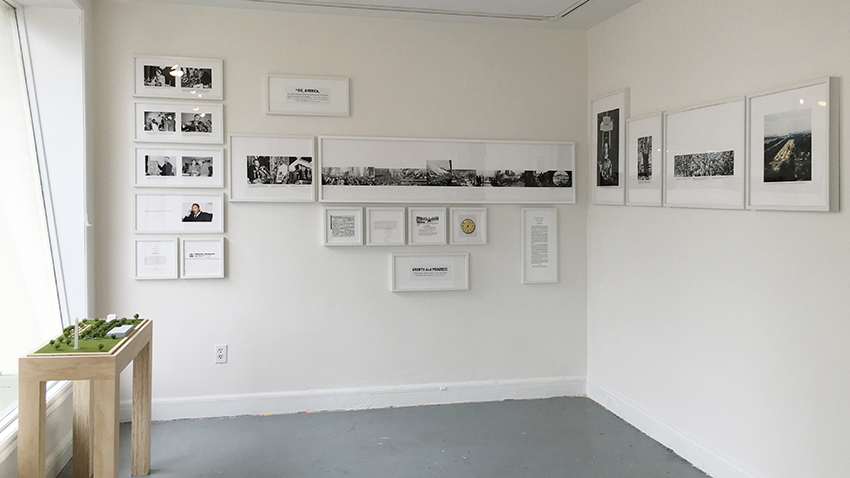 Kate Haug, Install view of 'News Today.'