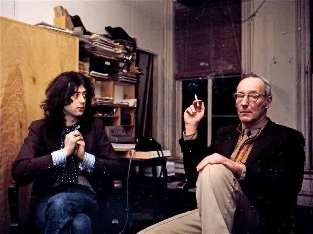 Guitarist Jimmy Page and author William S. Burroughs