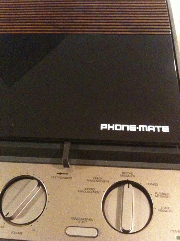 The Phone-Mate IQ-2845 answering machine.