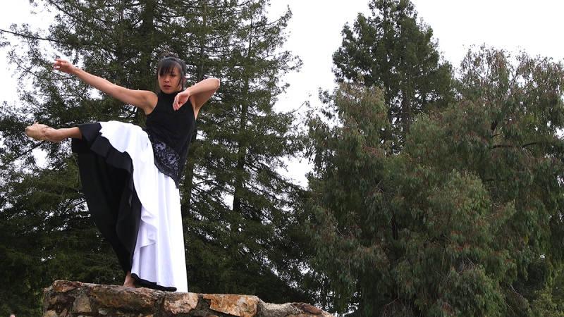Nina Wu dancing outdoors