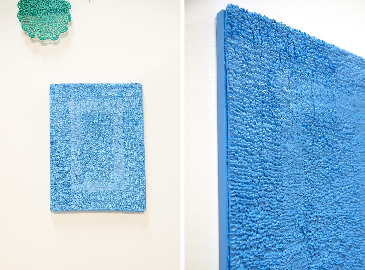 Sofie Ramos, 'bath mat painting,' 2016.