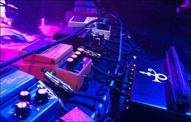 Prince's pedal board, DNA Lounge, 2013.