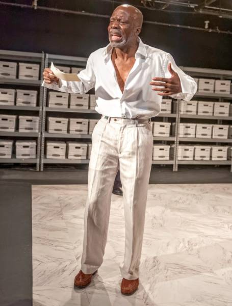Marc Anthony (L. Peter Callender) begins to unravel in 'Anthony and Cleopatra. Photo: Liam Passamore.