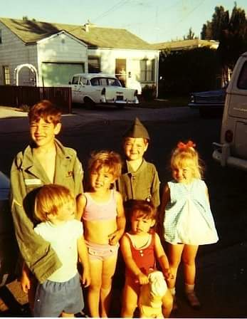 "Ali Madigan, via Facebook: ""San Pablo 1969. Me, riding the pony, with my 3 siblings & 2 neighbor kids. You can just see the tail end of mom's VW bus on the right. Now famous for being the quintessential ""Hippie"" van, for our family of 7 it was the ""mini van"" of the day."""