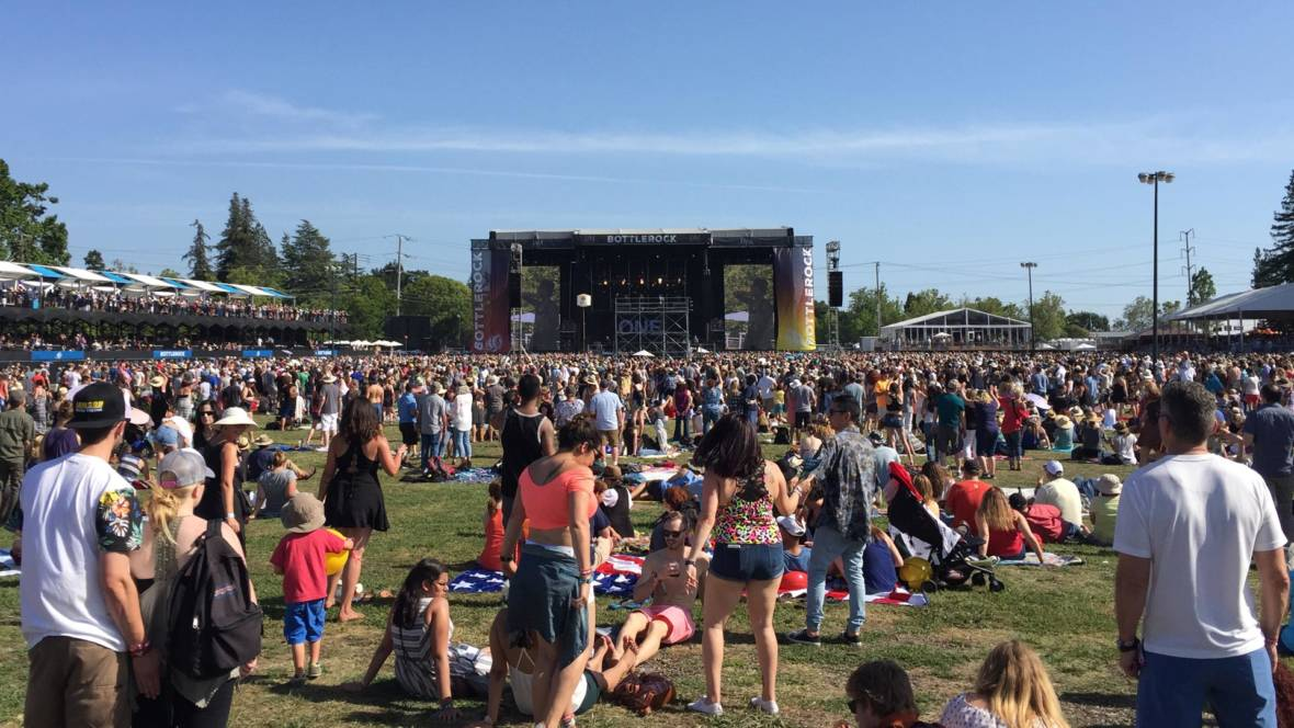 The stage at BottleRock 2016. Gabe Meline