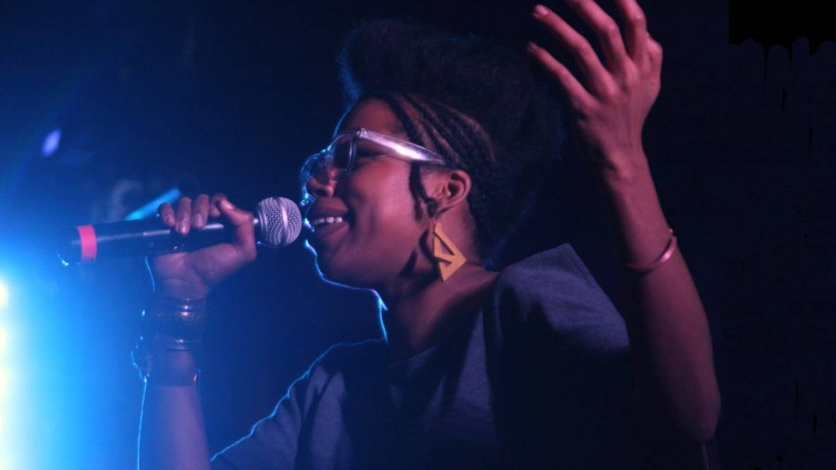 Georgia Anne Muldrow performs at Feels V in Oakland, May 28, 2016. Photo: Gabe Meline